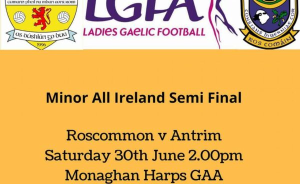 Minors take on Roscommon in All Ireland Semi Final